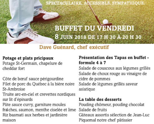 Buffet du vendredi 8 juin 2018